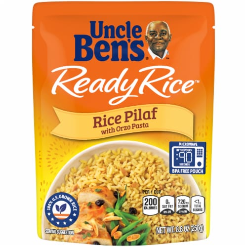 Uncle Ben's Ready Rice Rice Pilaf Perspective: front