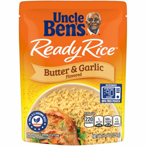 Uncle Ben's Ready Rice Butter & Garlic Flavored Rice Perspective: front