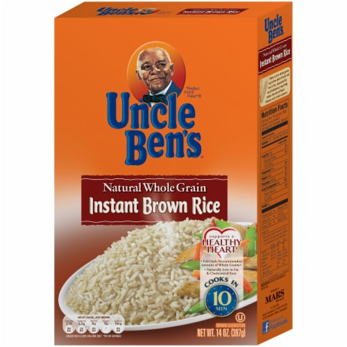 Uncle Ben's Natural Whole Grain Instant Brown Rice Perspective: front