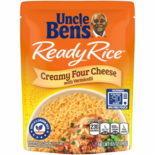 Uncle Ben's Ready Rice Creamy Four Cheese Rice Perspective: front