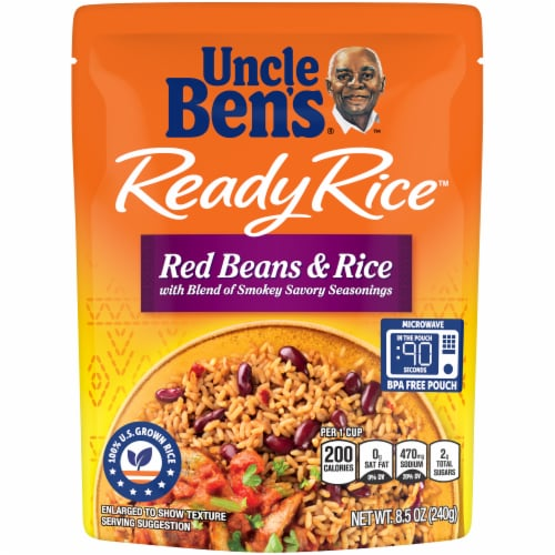 Uncle Ben's Ready Rice Red Beans & Rice Perspective: front