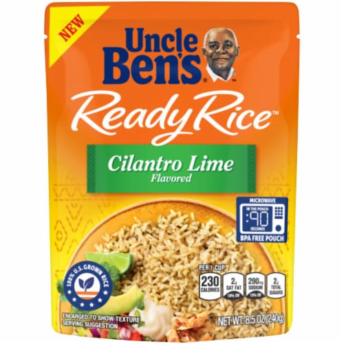 Uncle Ben's Ready Rice Cilantro Lime Flavored Rice Perspective: front