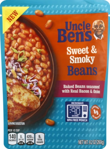 Uncle Ben's Sweet & Smoky Bacon & Onion Baked Beans Perspective: front
