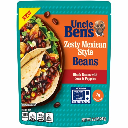 Uncle Ben's Zesty Mexican Style Beans Perspective: front