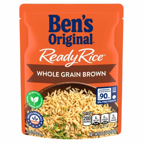 Ben's Original Ready Rice Whole Grain Brown Rice Perspective: front