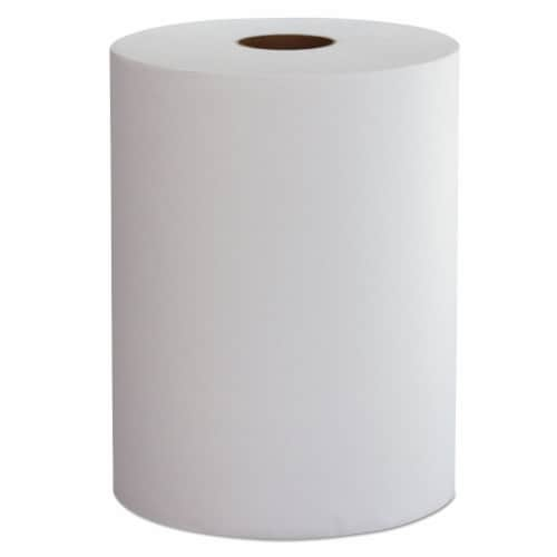 Morcon W106 10 in. x 800 ft. 1 Ply Hardwound Roll Towels - White, 6 Per Case Perspective: front