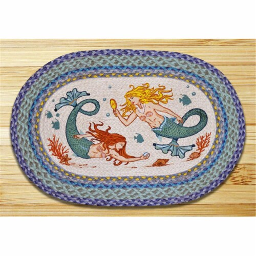 Earth Rugs 65-386M Mermaids Oval Patch Perspective: front