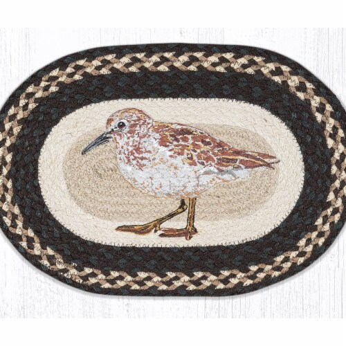 Capitol Importing 48-599S 13 x 19 in. PM-OP-599 Sandpiper Oval Placemat Perspective: front