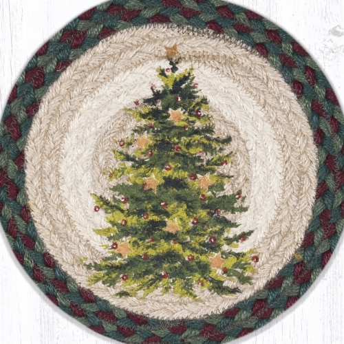 Capitol Importing 10 x 10 in. Christmas Joy Tree Printed Round Trivet Perspective: front