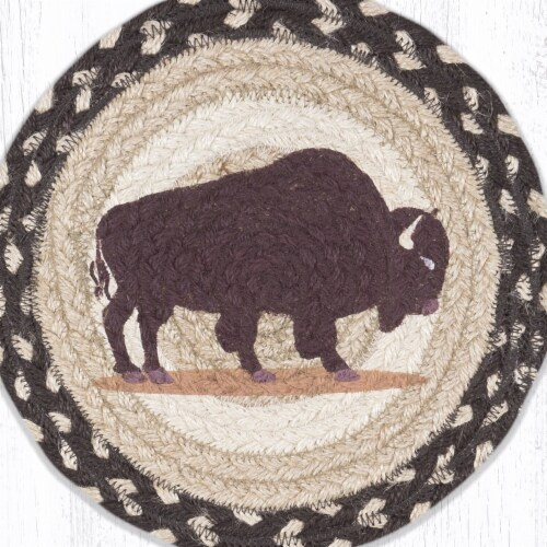 Capitol Importing 80-518B 10 x 10 in. MSPR-518 Buffalo Printed Round Trivet Perspective: front