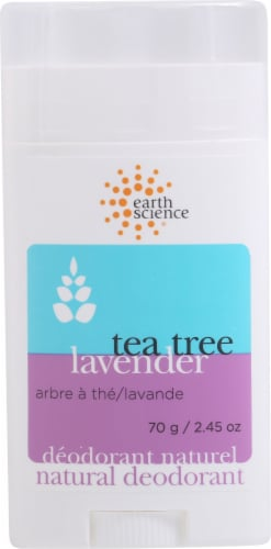 Earth Science Tea Tree Lavender Deodorant Perspective: front