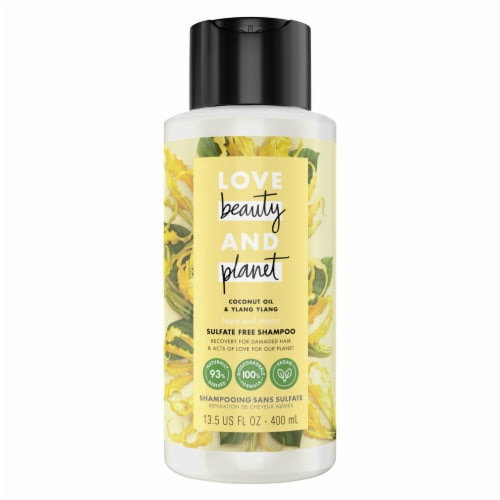 Love Beauty and Planet Hope & Repair Coconut Oil & Ylang Ylang Shampoo Perspective: front