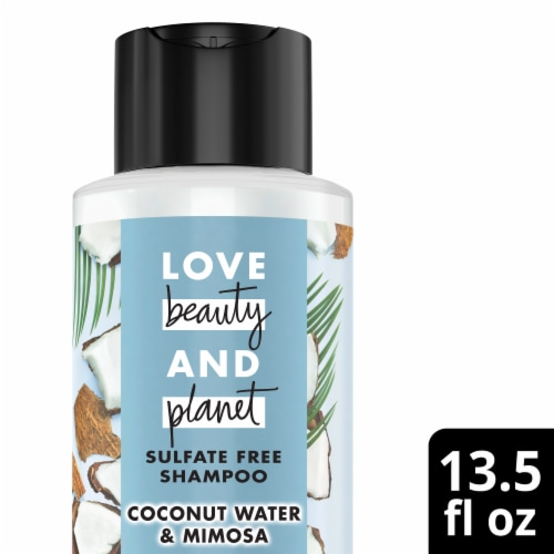 Love Beauty & Planet Volume and Bounty Coconut Water & Mimosa Flower Shampoo Perspective: front
