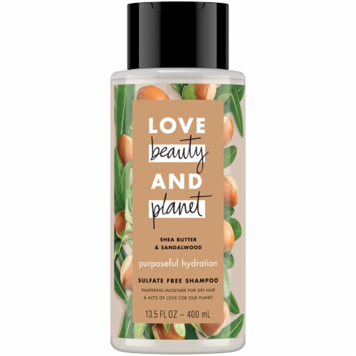 Love Beauty & Planet Shea Butter & Sandalwood Hydrating Shampoo Perspective: front