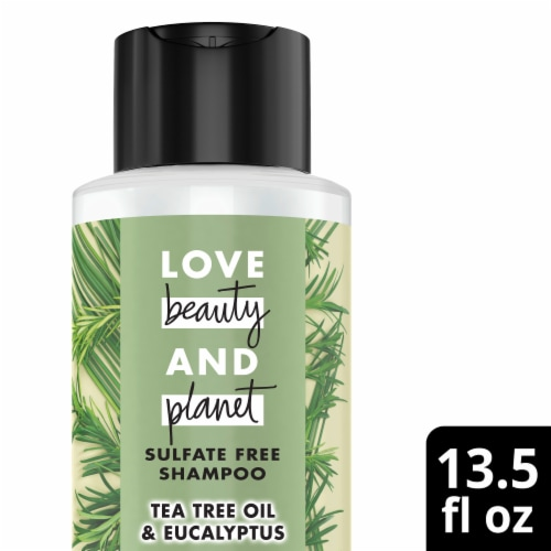 Love Beauty and Planet Radical Refresher Tea Tree Oil & Vetiver Shampoo Perspective: front