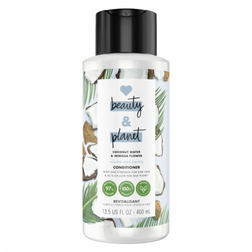 Love Beauty & Planet Volume and Bounty Coconut Water & Mimosa Flower Conditioner Perspective: front