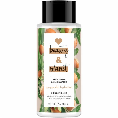 Love Beauty and Planet Shea Butter & Sandalwood Purposeful Hydration Conditioner Perspective: front