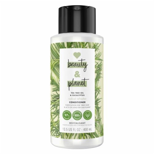 Love Beauty and Planet Radical Refresher Tea Tree Oil & Vetiver Conditioner Perspective: front