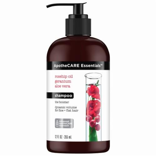 ApotheCARE Essentials Rosehip Oil Geranium Aloe Vera Shampoo Perspective: front