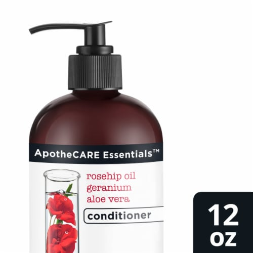 ApotheCARE Essentials The Booster Rosehip Oil Geranium Aloe Vera Conditioner Perspective: front