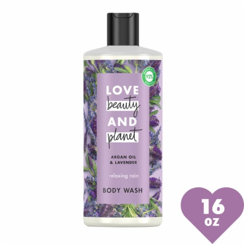 Love Beauty and Planet Argan Oil & Lavender Relaxing Rain Body Wash Perspective: front