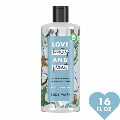 Love Beauty & Planet Radical Refresher Coconut Water & Mimosa Flower Hydrating Body Wash Perspective: front