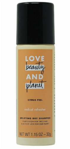 Love Beauty and Planet Citrus Peel Uplifting Dry Shampoo Perspective: front