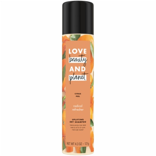 Love Beauty and Planet Radical Refresher Citrus Peel Uplifting Dry Shampoo Perspective: front