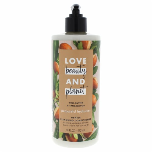 Love Beauty and Planet Shea Butter and Sandalwood Conditioner 16 oz Perspective: front