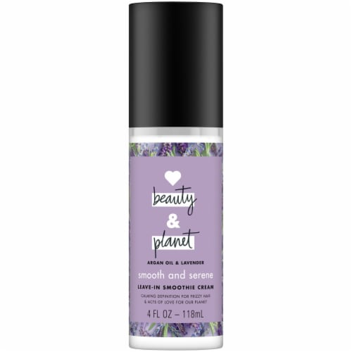 Love Beauty and Planet Smooth and Serene Argan Oil & Lavender Leave-in Smoothie Cream Perspective: front