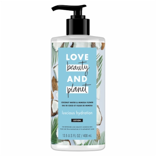 Love Beauty and Planet Luscious Hydration Coconut Water & Mimosa Flower Body Lotion Perspective: front