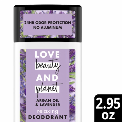 Love Beauty and Planet Argan Oil & Lavender Aluminum Free Deodorant Perspective: front