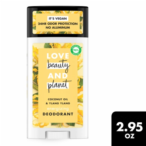 Love Beauty and Planet Coconut Oil & Ylang Ylang Aluminum Free Deodorant Perspective: front