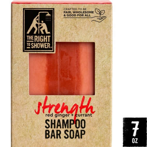 The Right To Shower Strength Red Ginger + Currant Shampoo Bar & Bar Soap Perspective: front
