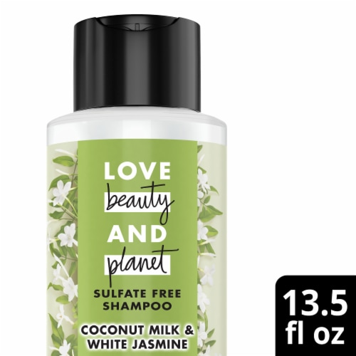 Love Beauty and Planet Divine Definition Coconut Milk & White Jasmine Shampoo Perspective: front