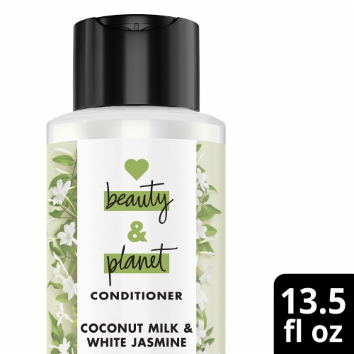 Love Beauty and Planet Divine Definition Coconut Milk & White Jasmine Conditioner Perspective: front