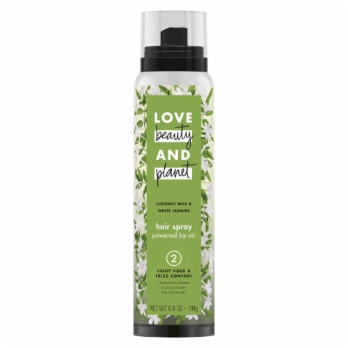 Love Beauty & Planet Coconut Milk & White Jasmine Hair Spray Perspective: front