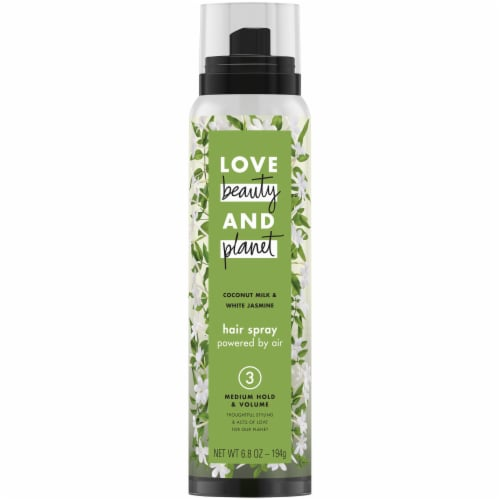 Love Beauty and Planet Coconut Milk & White Jasime Medium Hold & Volume Hair Spray Perspective: front