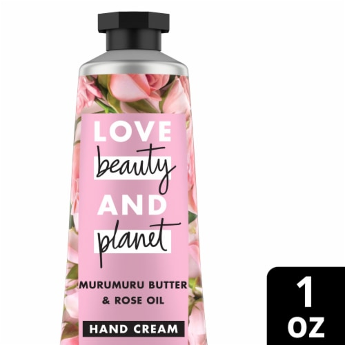Love Beauty and Planet Muru Butter & Rose Oil Hand Cream Perspective: front