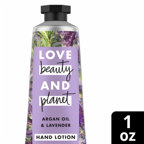 Love Beauty and Planet Argan Oil & Lavender Hand Lotion Perspective: front