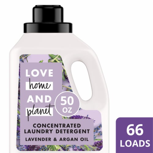 Love Home and Planet Lavender & Argan Oil Concentrated Laundry Detergent Perspective: front