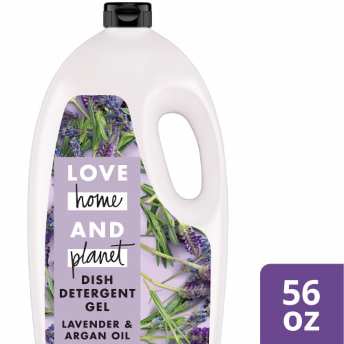 Love Home & Planet Dishwasher Detergent Gel - Lavender & Argan Oil Perspective: front