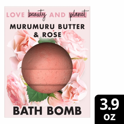 Love Beauty and Planet Murumuru Butter & Rose Bath Bomb Perspective: front
