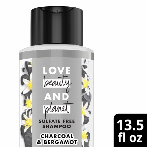 Love Beauty and Planet Charcoal Shampoo Perspective: front