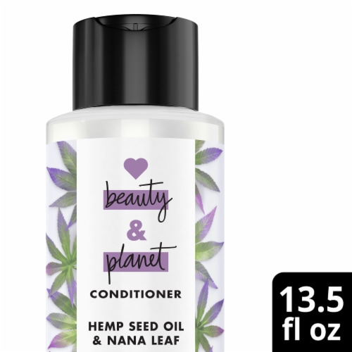 Love Beauty and Planet Hemp Seed Oil and Nana Leaf Conditioner Perspective: front