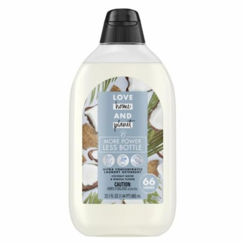 Love Home and Planet Coconut Water Laundry Detergent Perspective: front