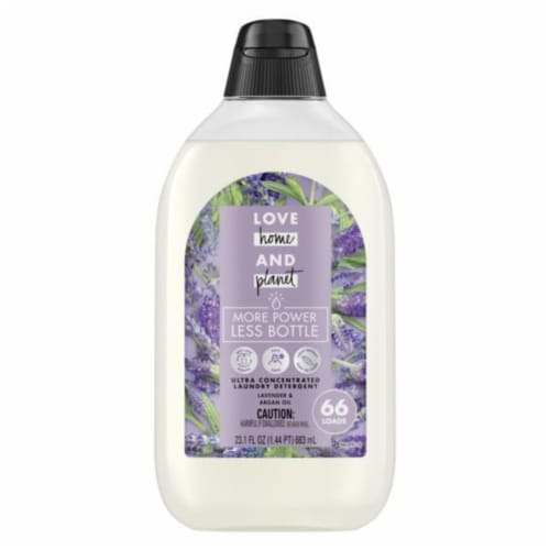 Love Home & Planet Lavender & Argan Oil Liquid Laundry Detergent Perspective: front