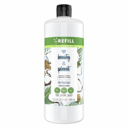 Love Beauty & Planet Silicone-Free Coconut Water & Mimosa Flower Conditioner Perspective: front