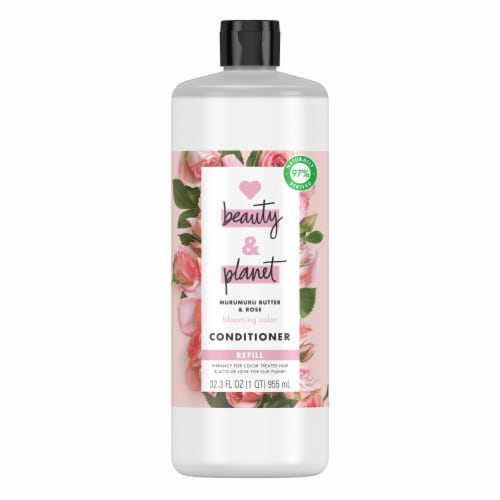 Love Beauty & Planet Silicone-Free Murumuru Butter & Rose Conditioner Perspective: front