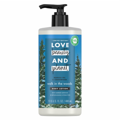 Love Beauty and Planet Marula Oil & Cedarwood Body Lotion Perspective: front